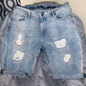 Men jean shorts